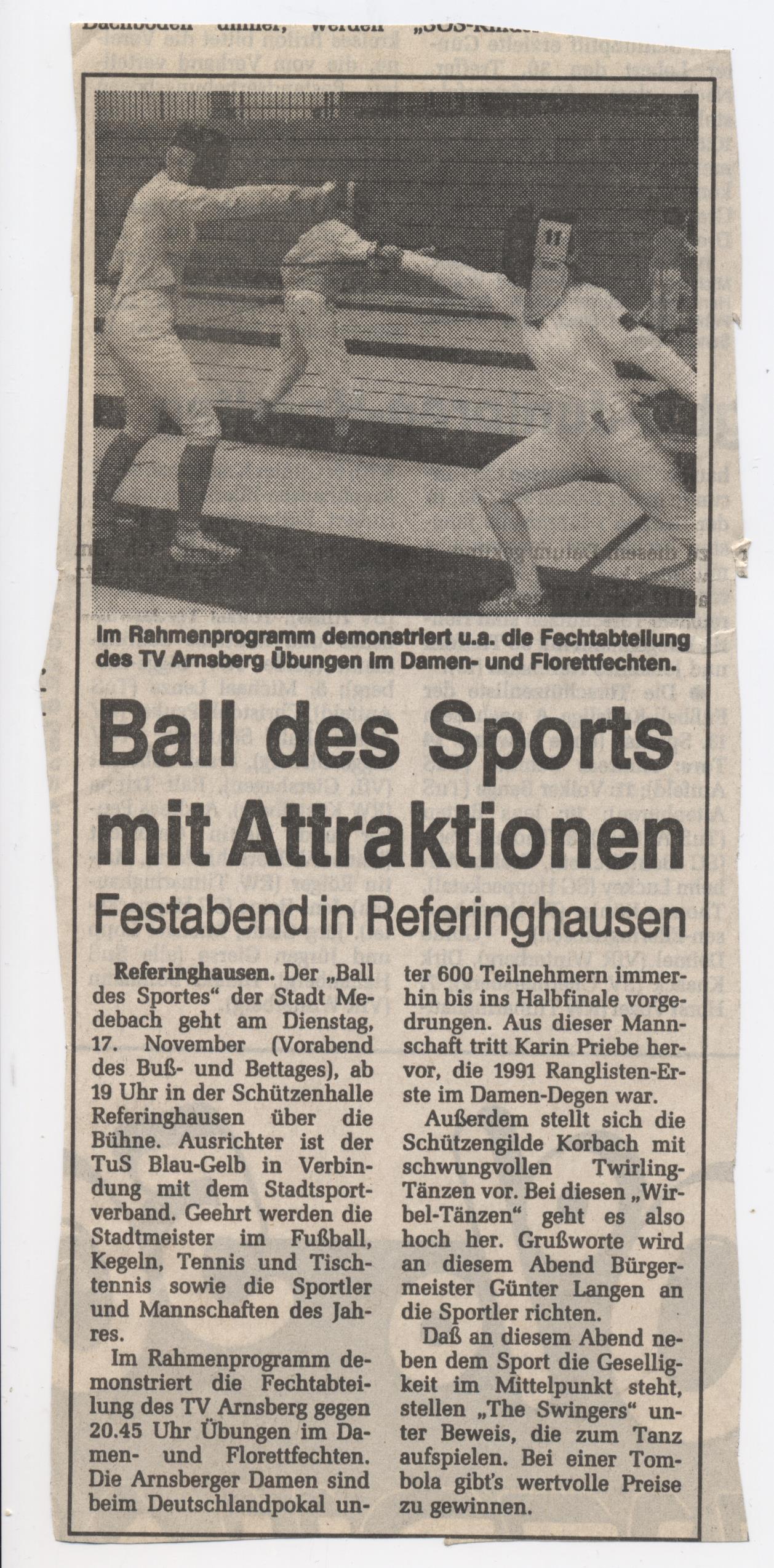 Ball des Sport mit Attraktion